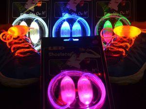 Freies Verschiffen 2015 Neue Art Gen 3 Glow Led blitz spitzee Led shoestring Muti-farbe LED schnürsenkel auf lager, 100 teile / los (= 50 pairs)