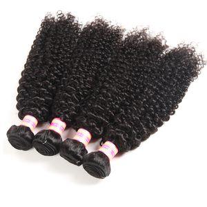 천연 색상 페루 말레이시아 인도 브라질 버진 인간의 머리카락 번들 꼬챙이 곱슬 느슨한 웨이브 깊은 파도 물결 머리 확장