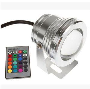 10 W 12 V Led Projektör Sıcak Soğuk Beyaz RGB Açık Led Sualtı Işıkları Su Geçirmez IP68 Bahçe Işıkları