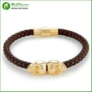 BC 주얼리 남성 쥬얼리 North skull bracelets bangles 여성용 BC-188 용 정품 가죽 스컬 Genunine 가죽 팔찌