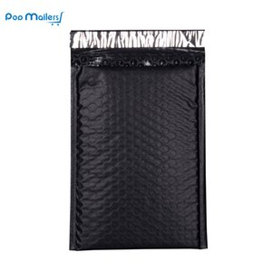 Wholesale- 50pcs 8.5x11inch 235*280mm Poly Bubble Mailing Mailer Shipping Padded Envelope Bags Black Color Shockproof Courier Bubble mailer