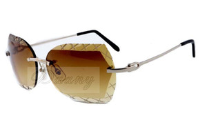 19 new color engraving lens, high quality carved sunglasses 8300593 casual ultra-light metal mirror legs sunglasses, size: 60-18-135mm