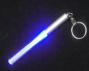 Mini LED Lightsaber Anahtarlık El Feneri 200 adet / grup