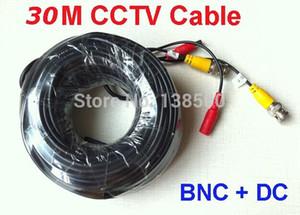 Бесплатная доставка новый 100 футов 25 м 30 м метр 2-в-1 BNC видео кабель питания для CCTV DVR камеры