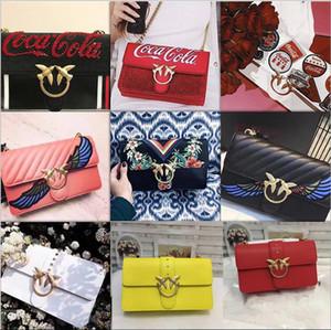 Lüks yeni sıcak moda kadın lady klasik gerçek deri zincir yutar mektubu omuz çantası messenger crossbody flap pik çanta
