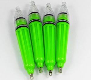 LED a prueba de agua Señuelo de la pesca necesita una 5ª batería Mini Deep Drop Underwater Fishing Squid Cebo Señuelo Luz intermitente 12cm / 28G
