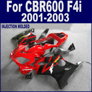 Carrozzeria 100% rossa ad iniezione per carenatura HONDA CBR 600 F4i 01 02 03 CBR600 F4i 2001 2002 2003 carenature