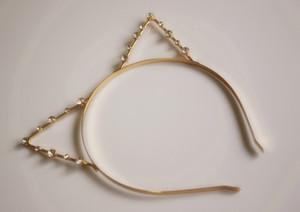 SıCAK Seksi Tavşan Kız inci kristal Kedi Kulaklar saç hoop Hairband Cosplay Fantezi Kafa parti olaylar için gümüş / altın kaplama ÜCRETSIZ NAKLIYE