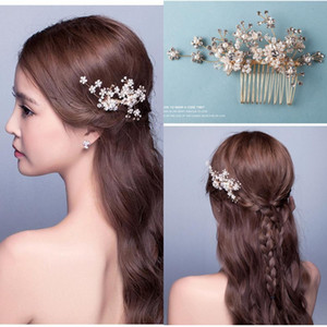 Nouvelle arrivée de mariée Accessoires en stock cristal fait main strass perles de mariage cheveux accessoires de mariée cristaux Décorations cheveux CPA511