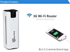 Mobil Cep Taşınabilir Çok Fonksiyonlu Mini Kablosuz Güç Bankası SIM Kart Yuvası 3G WiFi Router yönlendirici Akıllı Moblie WiFi 3g wifi
