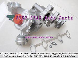 GT1646V 765261 765261-0007 756867 756867-0001 Turbo Turbocompressore per AUDI A3 VW Golf Jetta Passat B6 Superbo 2 Toledo 3 Leon BMP BMM BVD 2.0L