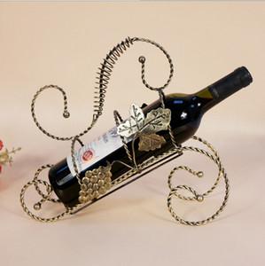 Виски шампанское держатель бутылки вина велосипед стойки бутылки вина дисплей стойки декоративные металлические винные стойки бронза 1 шт. A2045