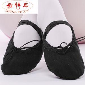 Atmungsaktive Segeltuch-weiche Ballett-Tanz-Schuhe der Frauen passendes für erwachsenes und Kind-Mädchen Size22 ~ 42 16 ~ 26cm CXTY-005
