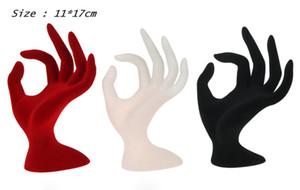 Alta Qualidade OK Dedo Resina e Veludo Jóias Display Rack Manekin Anel Pulseira Colar Suporte Anel Pulseira Titular