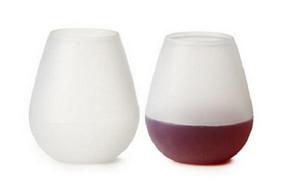 250pcs Gummi Weinglas bunte unzerbrechliche klare Kieselgel Wasser Tasse Silikon Weinglas Silikon Wein Tasse Rotweingläser