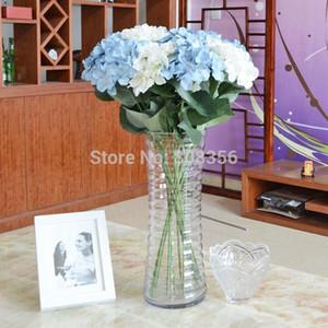 COLOR BLANCO Alta calidad Seda Artificial Hortensia Pincushion Laurustinus Flor Tallo único por Bush Navidad