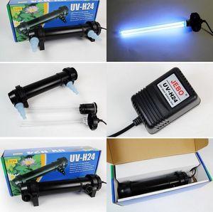 Оптовая продажа-JEBO 5W~36W мощность УФ-стерилизатор лампа свет Ультрафиолетовый фильтр осветлитель очиститель воды для аквариума пруд коралловые кои Аквариум