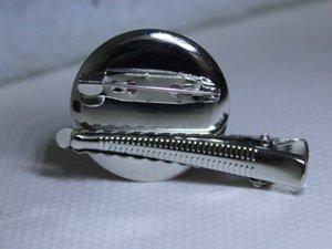 Di alta qualità vendita calda fai da te disco diametro 30mm spilla anfibio Tornante coccodrillo clip / spilla accessori in metallo 100 pz
