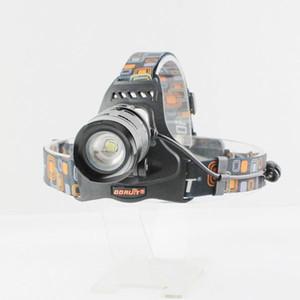 كري XM-L L2 LED 5Mode HeadLight Torch كشافات قابلة للشحن + شاحن + 2 * 5000mAh 18650 بطارية + كابل USB