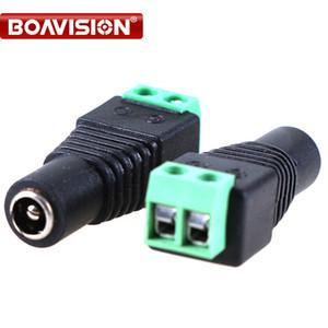 100 pçs / lote fêmea conector DC 5.5 DC Power UTP CCTV UTP adaptador de cabo de alimentação fêmea Camera BNC Connector
