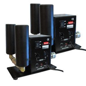 (2 개 / lot) CO2 제트 기계 이중 파이프 CO2 제트 장비 스테이지 DJ 효과 기계 DMX 또는 수동 제어