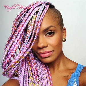 FREE SHIPING CHEAP Jumbo BRAIDS SYNTHETIC braiding hair synthetic two tone color JUMBO BRAIDS extension cheveux 24inch ombre box braids hair