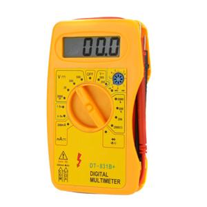 DT-831B + Professional Multímetro Digital DMM Voltímetro Amperímetro Multitester Ohmmeter HFE Tester Megohmmeter w / Bateria Tester, dandys