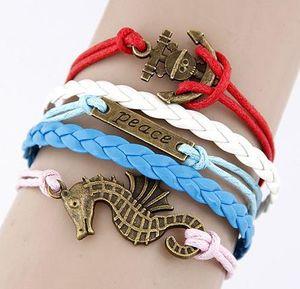 Bracelets for Women Men Fashion Handmade Jewelry Statment Bohemian Wrap Bracelet Snap Snake Lovers Leather Pulseras Infinity Bracelets