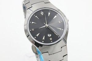 Luxus-Topmarke volle hohe quaity begrenzte Herren-Uhr Wolfram Stahl TICHY hohe Qualität Datum Keramik Zifferblatt schwarz Herrenmode Herrenuhr