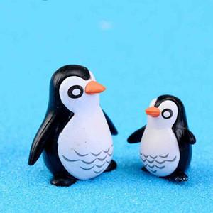 Pingüinos en miniatura Padre e hijo Muñeca Adorno Regalo de escritorio Micro Paisaje Decoración DIY Material Hada Jardín Musgo Terrario Zakka