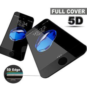 3D 4D 5D curvó la película del protector de la pantalla de la cubierta completa 9H del vidrio templado para el iPhone X 8 7 6S 6 más protectores antiarañazos con el paquete al por menor