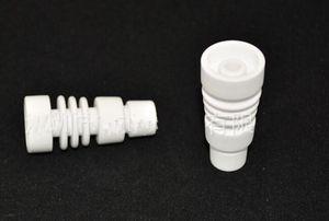 Nuevo clavo de cerámica sin domenes 14.4mm 18.8mm hembra y macho ambos pueden caber tubo de agua de vidrio bong