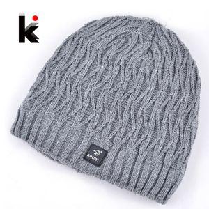 Wholesale-2015 kaput kış erkek Skullies tasarımcı şapka açık kayak maskesi örme yün şapka erkekler için kap kasketleri artı kalın kadife şapkalar erkekler