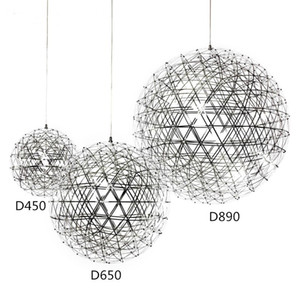 Stainless Steel Pendant Lights Lamps 110V 240V LED Firework Light Ball for Restaurant Cafe Bar Dining Living Room home indoor lighting