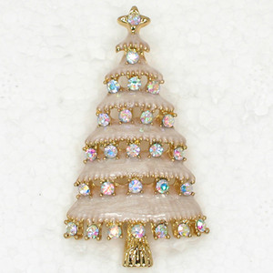 Wholesale C820 Crystal Rhinestone Enameling Christmas tree Pin Brooch Christmas gifts