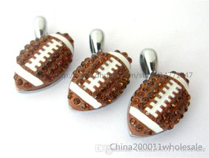 Football DIY Rhinestone HC359 Bracelet 10pcs Pendant Charms 15x15mm Necklace DIY Fit  Key Chain s Phone Strip DIY American Hang Eleux