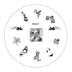 Wholesale-Wholesale 20pcs/lot 70mm Nail ART Image Stamp Plates Polish Stamping Manicure Plate for Free shipping