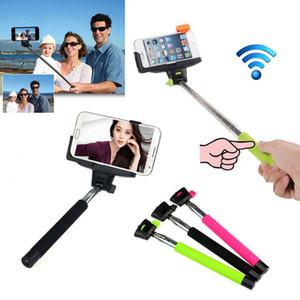 Selfie Sticks Bluetooth Selfie Monopod Bluetooth Selfie Monopods Selfie Stick Bluetooth obturador remoto Clip Z07-5 para iPhone Samsung DHL