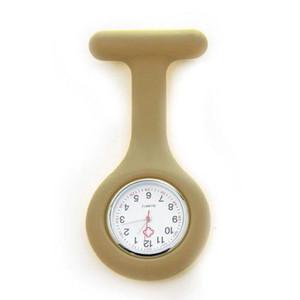 Venta caliente Nueva Moda Relojes de Silicona Enfermera Broche Relojes Luminosos Relojes de Cuarzo Regalo del Día de San Valentín 100 unids Envío Gratis
