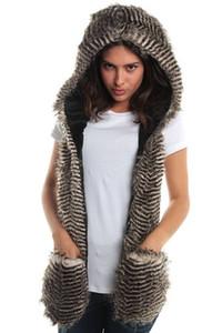 Faux Fur Winter Hat Hood Scarf Hat Glove Set Girls Mens Xmas Spirit 7 Style Free Shipping