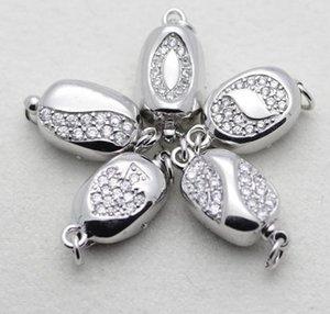 Heißer Verkauf Pea Form 925 Silber Verschluss Perle Halskette Armband Verbindung YPJ91