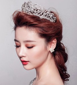 Cenerentola Lusso Impero Principessa Crystal Rhinestone Wedding Crown Veli da sposa Shiny Bridal Jewelry Diademi e accessori per capelli