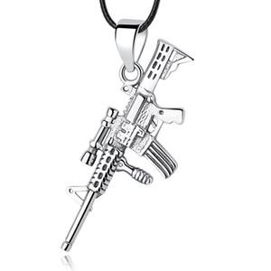 New Authentic 925 Sterling Silver Bead Charm Rifle Gun Dangle Pendants Charms Fit European Women Bracelets DIY Jewelry Making
