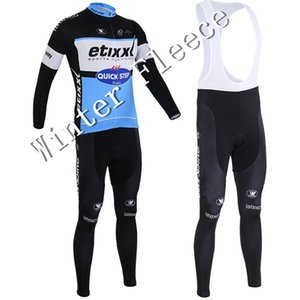 Wholesale-2015 etixx quick step winter fleece long jerseys bib long tights braces for gel pad for skinsuit