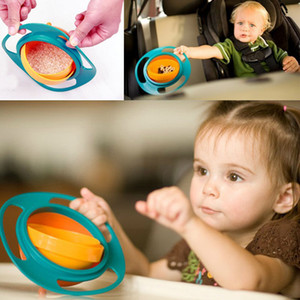 Resuli Hot Sale New Children Kid Baby Toy Universal 360 Rotate Spill-Proof Bowl Dishes freeeshipping & Wholesales CB1