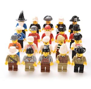 20 PC 멀티 컬러 액션 장난감 그림 남자 사람들 Minifigs 잡아 가방 선물 무작위 플라스틱 아이들 아이들 소년 장난감