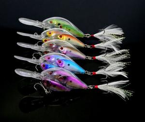Threadfin Shad Crankbait di pesca a mosca esche hard 9,7 centimetri 18g occhi 3D Esche vive target per la pesca dei bassi