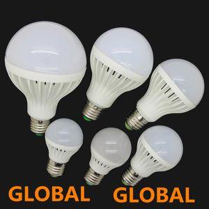 Luminosité élevée Ampoule Led E27 3W 5W 7W 9W 12W 15W 220V 5730 SMD LED lumière Warm / Cool White LED Globe Light Lampe à économie d'énergie livraison gratuite