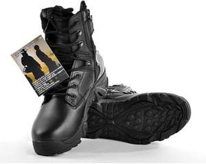 Tattico da combattimento Esercito Marca Scarpe da uomo Design con cerniera Delta SWAT Stivali Dro Suole antiscivolo Scarpe da uomo Tomaie impermeabili