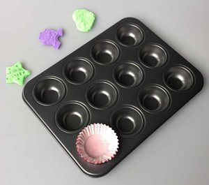 Кастрюли для выпечки кекса 12 чашек для мини-противоскользящих форм для выпечки кекса Формы для выпечки кексов
